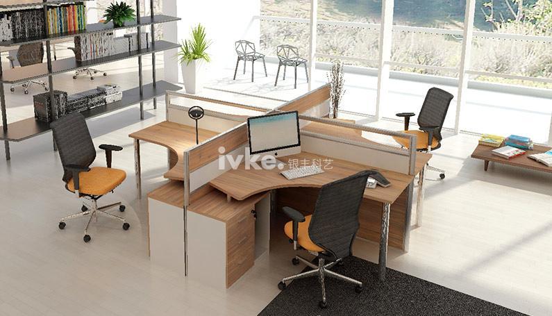 V9屏风隔断卡位办公桌